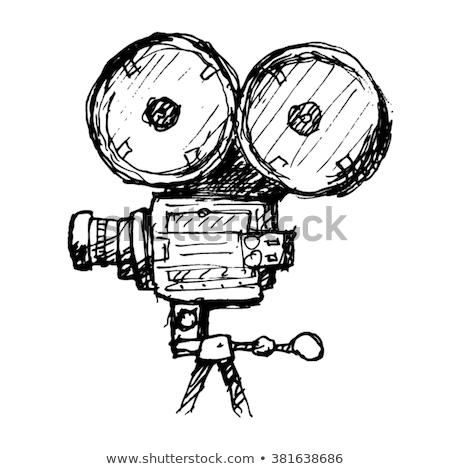 caméra · vidéo · icône · vecteur · isolé · blanche - photo stock © rastudio