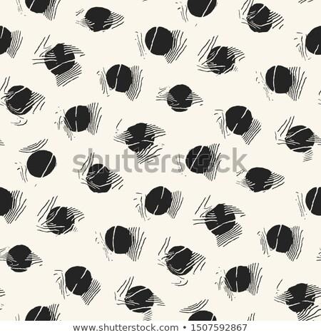 vector seamless irregular polka dots distorted pattern stock photo © creatorsclub