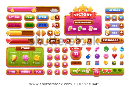 Cartoon icons for game user interface Stock photo © Natali_Brill
