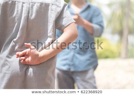 Gyerekek bizalom pszichológia hazugságok gyerekek játszótér Stock fotó © Lightsource
