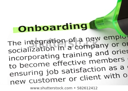 onboarding highlighted with green marker stock photo © ivelin