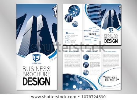 company business trifold brochure layout template with marketing Stock photo © SArts