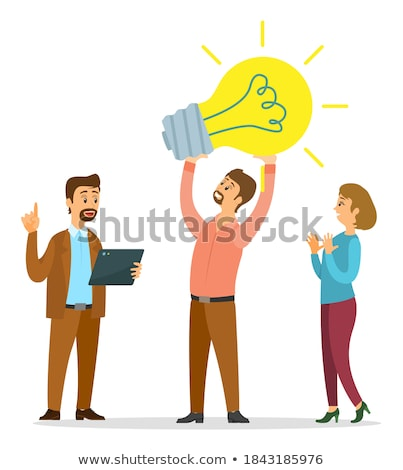 man clapping his hands business achievement stock photo © kali