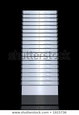 3D renderelt illusztráció szerver rack iroda szerver Stock fotó © Spectral