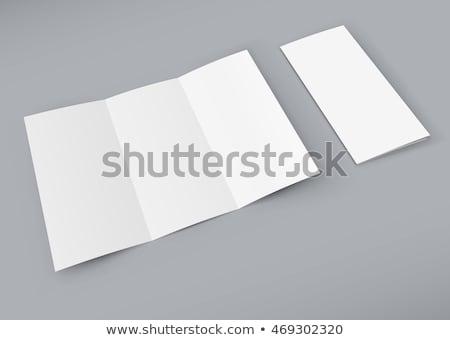 brosúra · izolált · szürke · papír · marketing · fehér - stock fotó © sarts