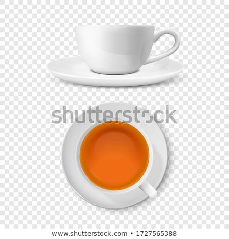 realistic red coffee or tea cup isolated on white stock photo © robuart
