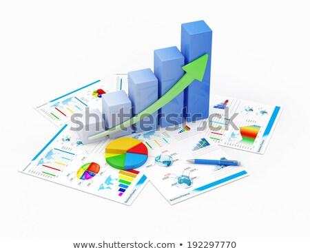メリット グラフ アイコン 白 金融 市場 ストックフォト © Imaagio