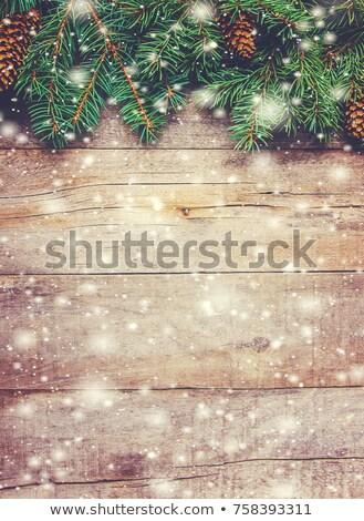Zöld karácsony különböző hópelyhek zuhan textúra Stock fotó © SwillSkill