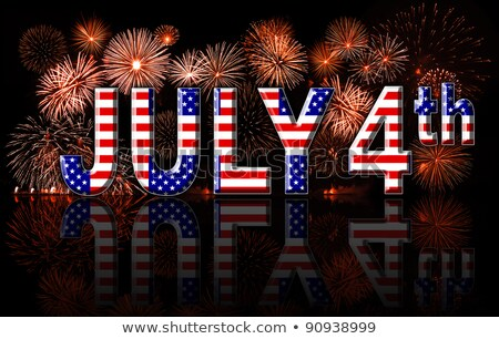 Fourth of July Signs with Sparkles Stock photo © Voysla