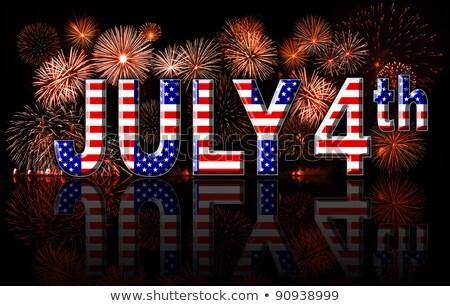 conjunto · patriótico · ícones · dia · américa - foto stock © voysla