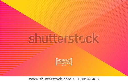 Retró stílus színes minimális vektor 3D hatás Stock fotó © SArts
