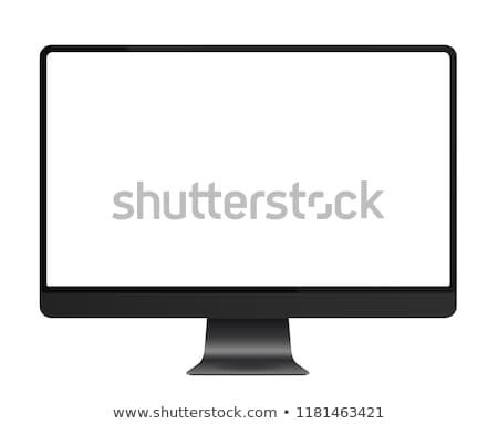 Profissional lcd monitor painel isolado branco Foto stock © kokimk