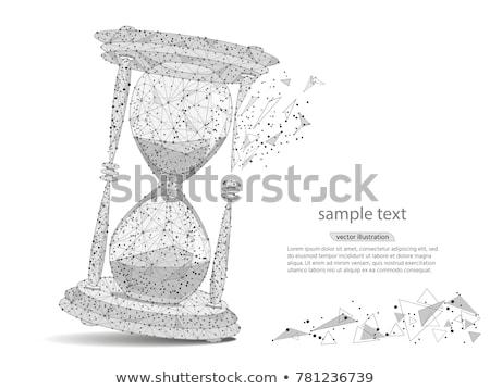 Sablier vecteur verre fond sable Photo stock © ordogz