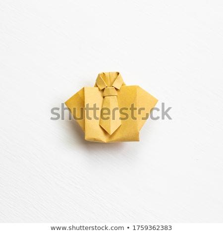 Origami objets isolé blanche affaires papier Photo stock © ordogz