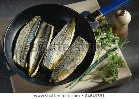 Pan fried mackerel Stock photo © Digifoodstock
