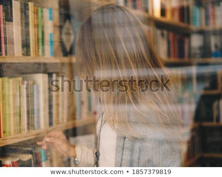 книгах библиотека шельфа окна избирательный подход школы Сток-фото © stevanovicigor