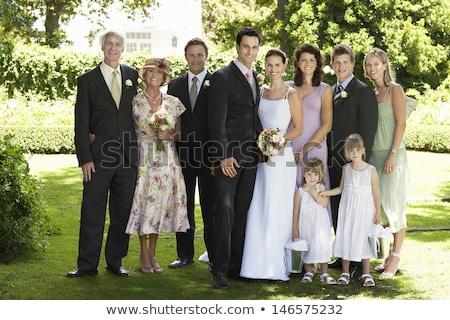 Stock fotó: Portré · menyasszony · vőlegény · áll · szeretet · férfi