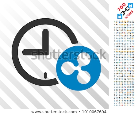 Bitcoin Credit Time Flat Icon with Clip Art Stock photo © ahasoft