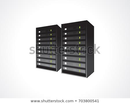abstract blade server icon Stock photo © pathakdesigner