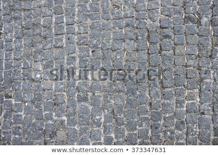 Top view sample of cobblestone road texture Stock photo © stevanovicigor