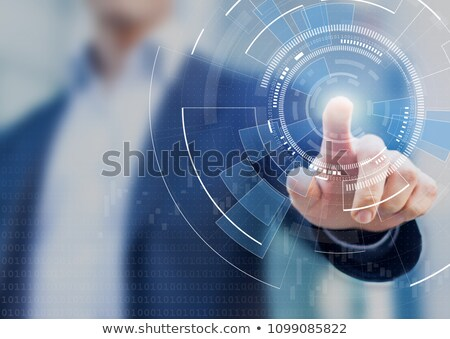 hand touching business innovation button stock photo © tashatuvango