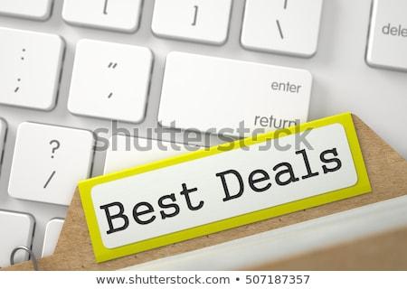File Card with Best Deals. 3D. Stock photo © tashatuvango
