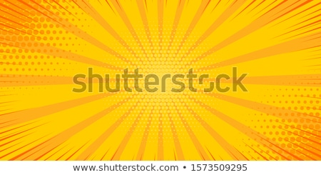 yellow pop art comic book style background with rays Stock photo © SArts