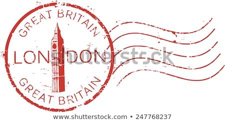 Cachet de la poste Londres nuit Big Ben tour Photo stock © 5xinc