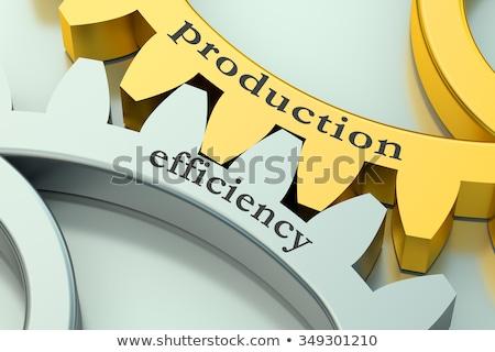 Dourado engrenagens engrenagens produção industrial projeto Foto stock © tashatuvango
