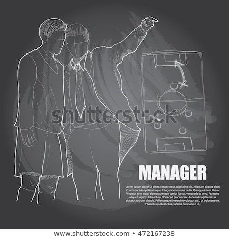 Hand Drawn Change Management on Green Chalkboard. Stock photo © tashatuvango