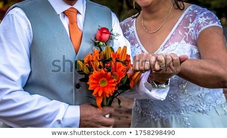 boda · Pareja · tomados · de · las · manos · jóvenes · ceremonia - foto stock © fogen
