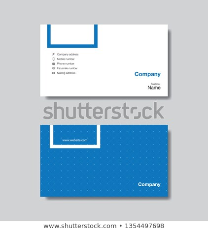 Lawyers company business card template Stock photo © studioworkstock