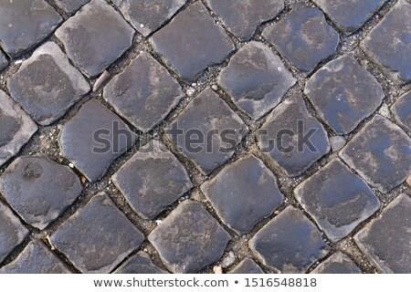 chodniku · pęknięcia · starych · asfalt · bruk · mróz - zdjęcia stock © taviphoto