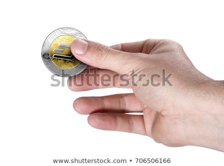 Dash cryptocurrency in hand Stock photo © stevanovicigor
