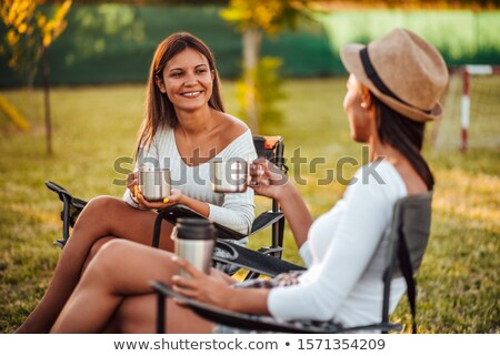 Two women at campsite Stock photo © IS2