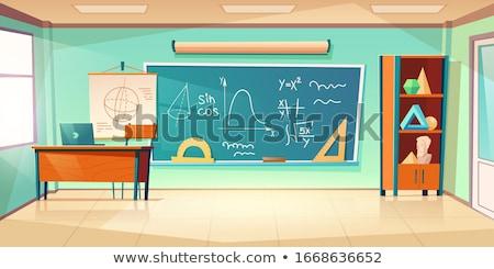 Math Classroom Interior Stock photo © lenm