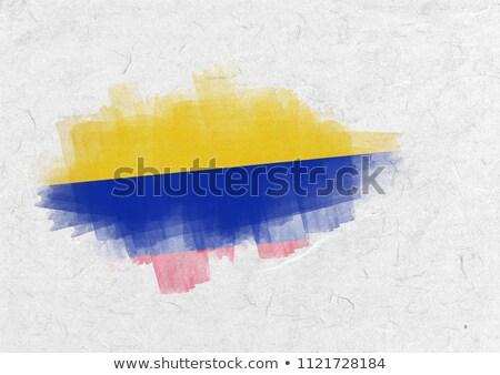 Colombia bandera pergamino Foto stock © wavebreak_media