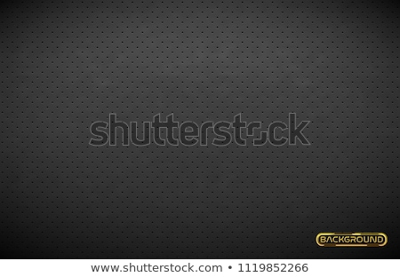 Vector dark gray perforated leather texture wallpaper. Realistic charcoal perforated background Stock photo © Iaroslava