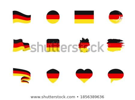 Германия сердце флаг вектора изображение дизайна Сток-фото © Amplion