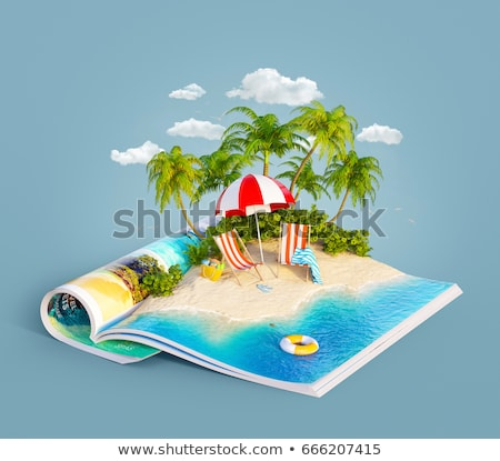 Landscape of the open sea and tropical islands Stock photo © tracer