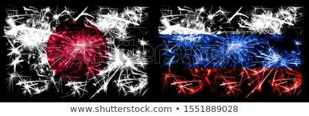 rojo · Rusia · patrón · iconos · símbolo · decoración - foto stock © cienpies