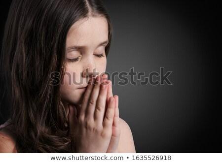молиться девушки серый стороны любви Сток-фото © ra2studio