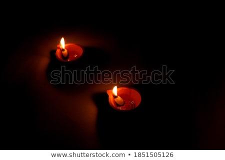 beautiful two diwali diya background stock photo © sarts