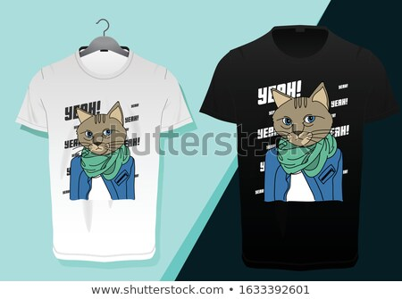 Cartoon Angry Detective Kitten Stock photo © cthoman