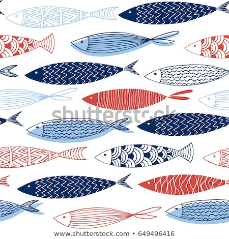 Vector Fish Illustration on Aquarium Background Stock photo © robuart