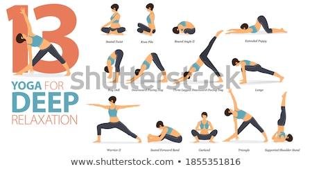 13 yoga femme fille fitness Photo stock © anastasiya_popov