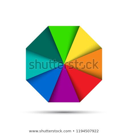 Сток-фото: Color Octagonal Palette Isolated On White Background Simple Vector Illustration