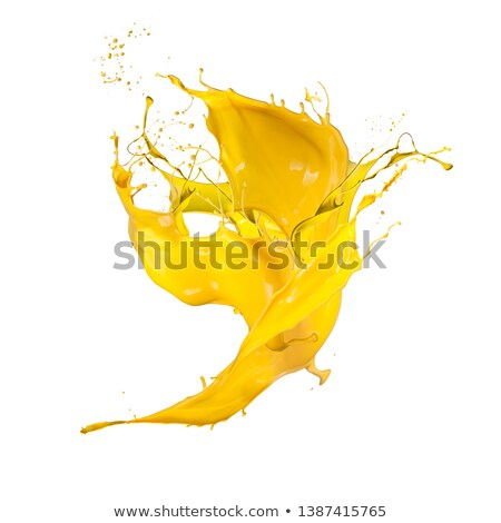 Amarillo pintura caída ondulación Foto stock © daboost