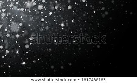 zimą · przezroczysty · tle · niebieski · śniegu · cap - zdjęcia stock © romvo