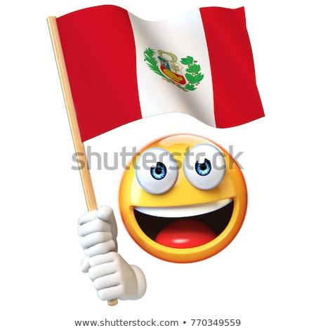 Patriot emoticon vieren gelukkig ontwerp Stockfoto © yayayoyo